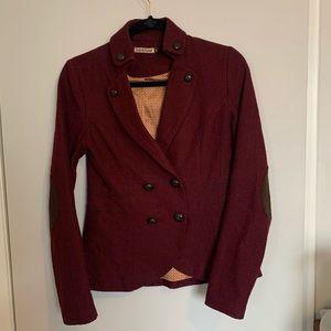Jackets & Blazers - Tweed blazer with elbow pads